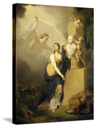 Allegory of the Death of Prince William V-Jan Willem Pieneman-Stretched Canvas Print