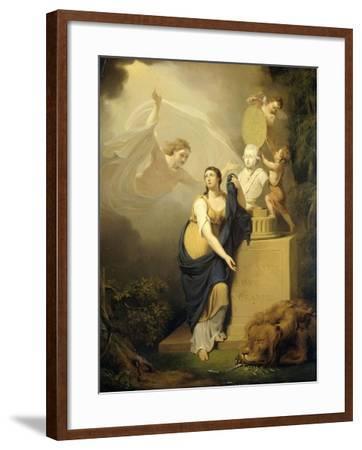 Allegory of the Death of Prince William V-Jan Willem Pieneman-Framed Art Print