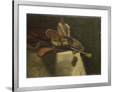Still Life with Oriental Slippers-August Allebe-Framed Art Print