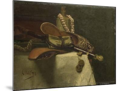 Still Life with Oriental Slippers-August Allebe-Mounted Art Print