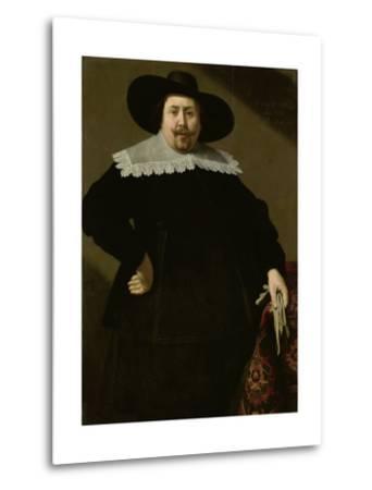 Portrait of the Amsterdam Brewer Philips Denijs-Huygh Pietersz Voskuyl-Metal Print