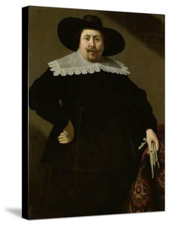 Portrait of the Amsterdam Brewer Philips Denijs-Huygh Pietersz Voskuyl-Stretched Canvas Print