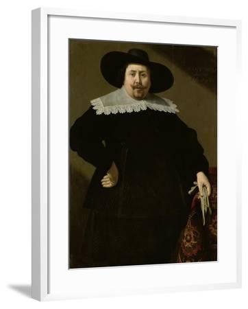 Portrait of the Amsterdam Brewer Philips Denijs-Huygh Pietersz Voskuyl-Framed Art Print