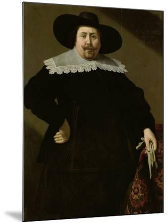 Portrait of the Amsterdam Brewer Philips Denijs-Huygh Pietersz Voskuyl-Mounted Art Print