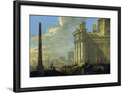 Italian Harbor View-Jacob van der Ulft-Framed Art Print