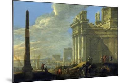 Italian Harbor View-Jacob van der Ulft-Mounted Art Print