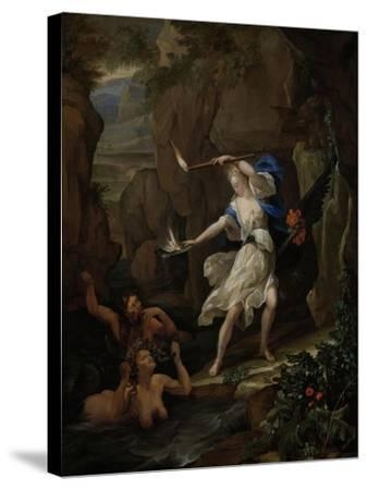 Circe Punishes Glaucus by Turning Scylla into a Monster-Eglon van der Neer-Stretched Canvas Print