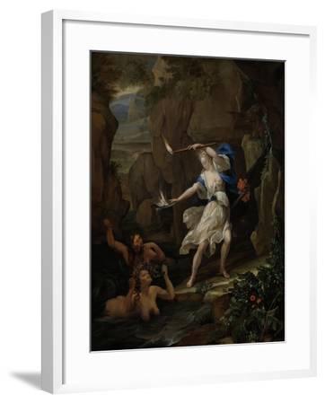 Circe Punishes Glaucus by Turning Scylla into a Monster-Eglon van der Neer-Framed Art Print