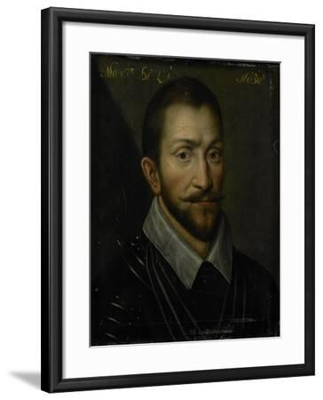 Portrait of Francois De La Noue, Seigneur De Teligny, Surnamed Bras De Fer and Le Bayard Huguenot--Framed Art Print