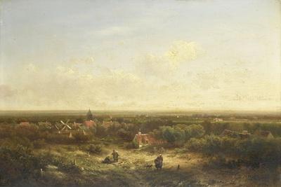 Village-Pieter Lodewijk Francisco Kluyver-Framed Art Print