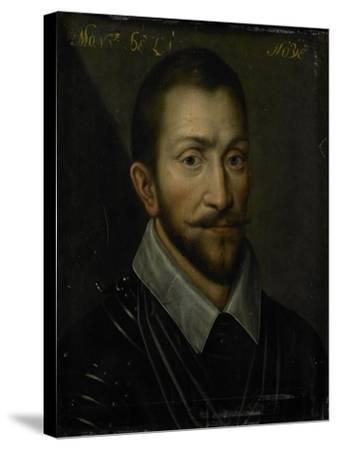 Portrait of Francois De La Noue, Seigneur De Teligny, Surnamed Bras De Fer and Le Bayard Huguenot--Stretched Canvas Print