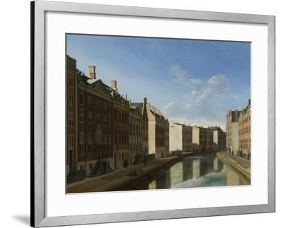 Golden Bend in the Herengracht, Amsterdam-Gerrit Adriaensz Berckheyde-Framed Art Print