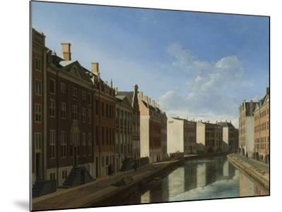 Golden Bend in the Herengracht, Amsterdam-Gerrit Adriaensz Berckheyde-Mounted Art Print