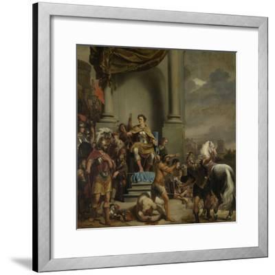 Consul Titus Manlius Torquatus Orders the Beheading of His Son-Ferdinand Bol-Framed Art Print
