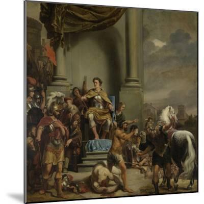 Consul Titus Manlius Torquatus Orders the Beheading of His Son-Ferdinand Bol-Mounted Art Print