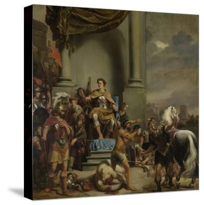 Consul Titus Manlius Torquatus Orders the Beheading of His Son-Ferdinand Bol-Stretched Canvas Print