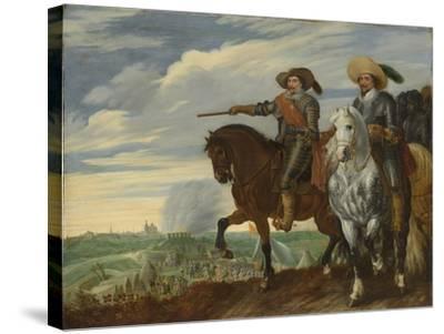 Frederick Henry and Ernst Casimir of Nassau-Dietz at the Siege of Hertogenbosch-Pauwels van Hillegaert-Stretched Canvas Print