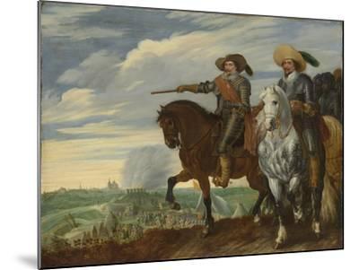Frederick Henry and Ernst Casimir of Nassau-Dietz at the Siege of Hertogenbosch-Pauwels van Hillegaert-Mounted Art Print