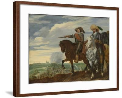 Frederick Henry and Ernst Casimir of Nassau-Dietz at the Siege of Hertogenbosch-Pauwels van Hillegaert-Framed Art Print