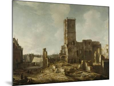 Ruins of the Old Town Hall of Amsterdam after the Fire of 7 July-Jan Abrahamsz. Beerstraten-Mounted Art Print