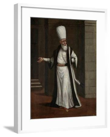 Janissary Aga, Commander-In-Chief of the Janissaries-Jean Baptiste Vanmour-Framed Art Print