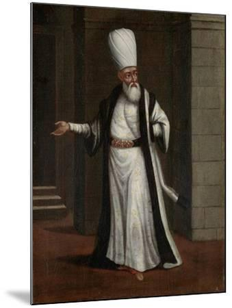 Janissary Aga, Commander-In-Chief of the Janissaries-Jean Baptiste Vanmour-Mounted Art Print