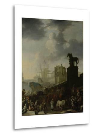 Entrance to the Capitol with the White Horse of the Newly Elected Pope-Johannes Lingelbach-Metal Print