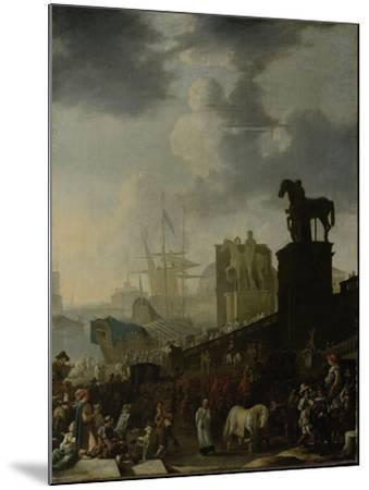 Entrance to the Capitol with the White Horse of the Newly Elected Pope-Johannes Lingelbach-Mounted Art Print