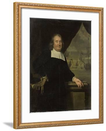 Portrait of a Captain or Ship-Owner-Michiel Van Musscher-Framed Art Print