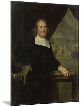 Portrait of a Captain or Ship-Owner-Michiel Van Musscher-Mounted Art Print