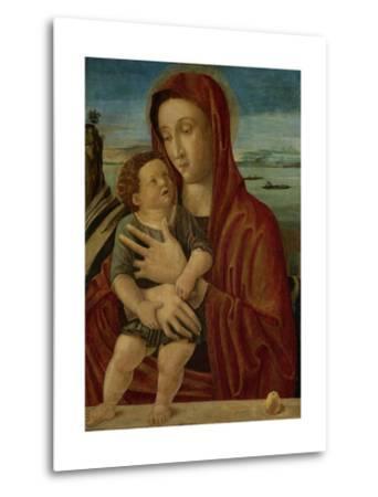 Madonna and Child, Circle of Giovanni Bellini-Giovanni Bellini-Metal Print