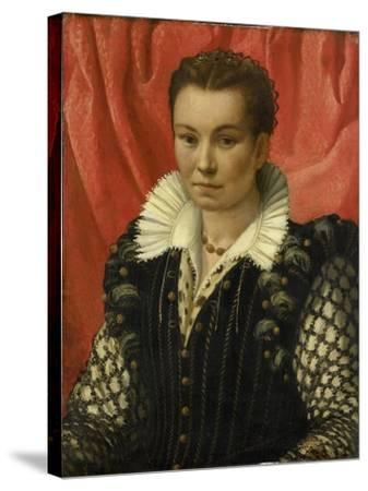 Portrait of a Woman.-Lorenzo Lotto-Stretched Canvas Print