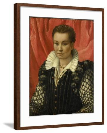 Portrait of a Woman.-Lorenzo Lotto-Framed Art Print
