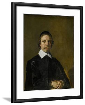Portrait of a Man, Possibly a Preacher, Frans Hals.-Frans Hals-Framed Art Print