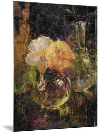 Bouquet of Yellow Roses in a Decanter, Behind a Bottle-Menso Kamerlingh Onnes-Mounted Art Print