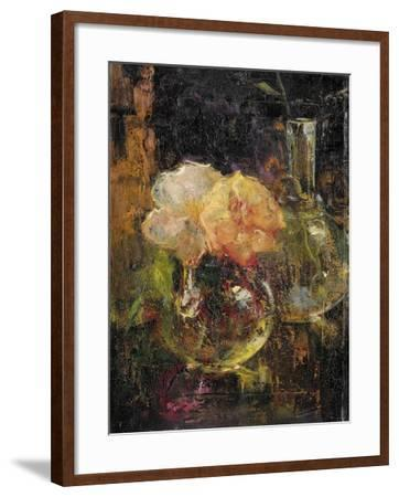 Bouquet of Yellow Roses in a Decanter, Behind a Bottle-Menso Kamerlingh Onnes-Framed Art Print