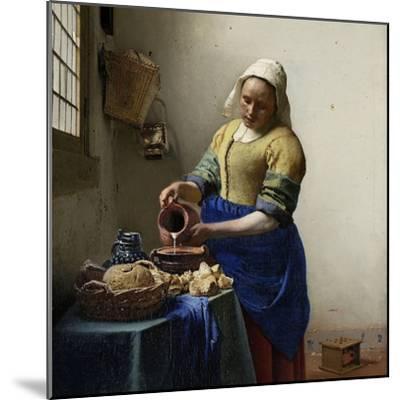Milkmaid-Johannes Vermeer-Mounted Art Print