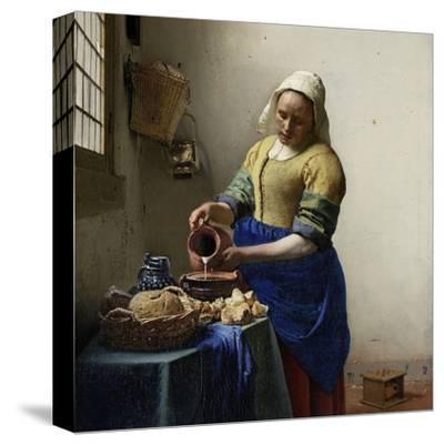 Milkmaid-Johannes Vermeer-Stretched Canvas Print