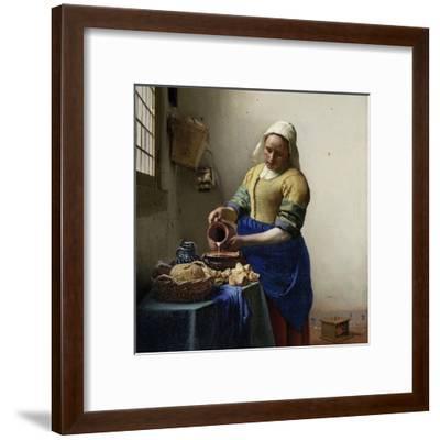 Milkmaid-Johannes Vermeer-Framed Art Print