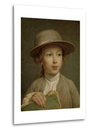 Boy with a Drawing Book-Nicolas Bernard Lepicie-Metal Print