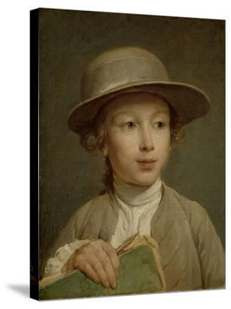 Boy with a Drawing Book-Nicolas Bernard Lepicie-Stretched Canvas Print