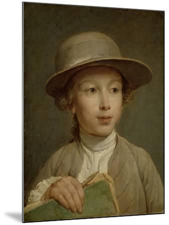 Boy with a Drawing Book-Nicolas Bernard Lepicie-Mounted Art Print