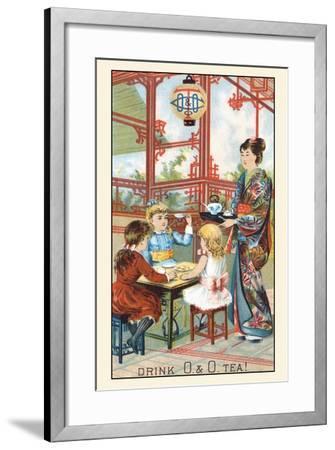 Drink O and O Tea!--Framed Art Print