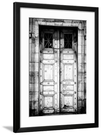 Paris Focus - Old White Door-Philippe Hugonnard-Framed Photographic Print