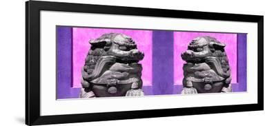 China 10MKm2 Collection - Asian Sculpture with two Lions-Philippe Hugonnard-Framed Photographic Print