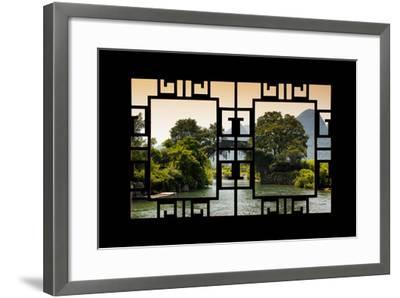 China 10MKm2 Collection - Asian Window - Guilin Yangshuo Bridge-Philippe Hugonnard-Framed Photographic Print