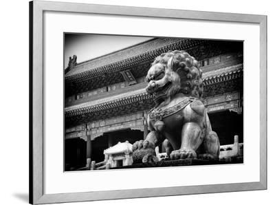 China 10MKm2 Collection - Bronze Chinese Lion in Forbidden City-Philippe Hugonnard-Framed Photographic Print