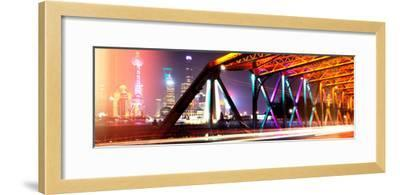 China 10MKm2 Collection - Colorful Garden Bridge - Shanghai-Philippe Hugonnard-Framed Photographic Print