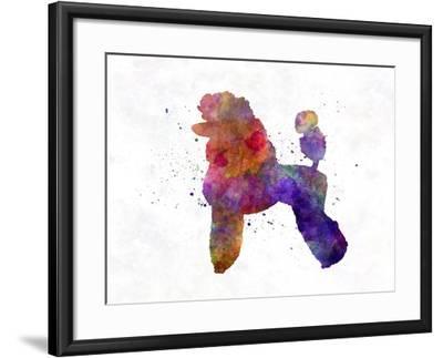 Poodle 02 in Watercolor-paulrommer-Framed Art Print