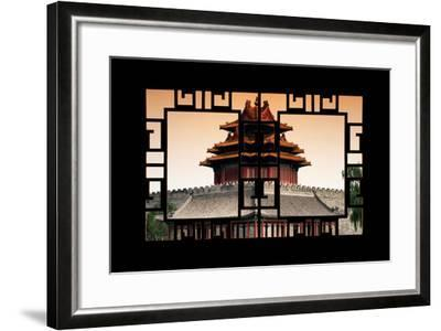 China 10MKm2 Collection - Asian Window - Watchtower - Forbidden City-Philippe Hugonnard-Framed Photographic Print